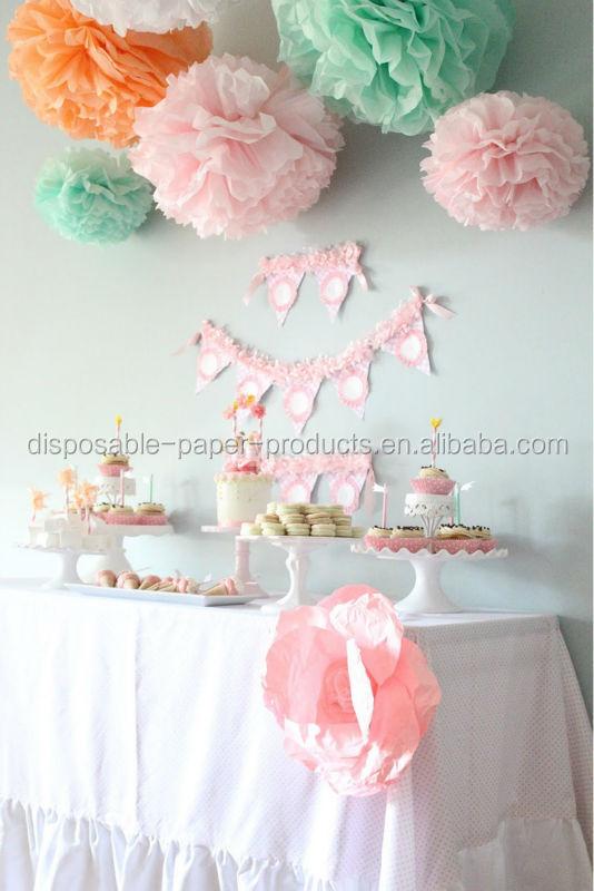 Tissue Paper Pom Poms Decoration Ideas Backdrop Baby Shower Hanging Decorations Wedding Getaway Car