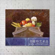 Online shopping Impressionist beautiful fruit basket oil painting