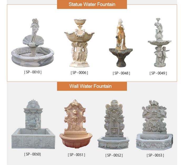Roma Outdoor garden water marble fountain with horse sculpture