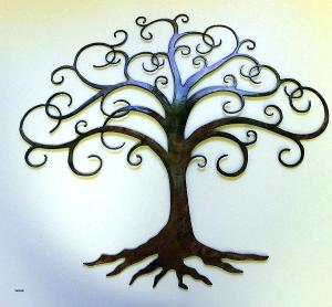 Latest design in china 2018 metal wall tree of life wall art decor for office use
