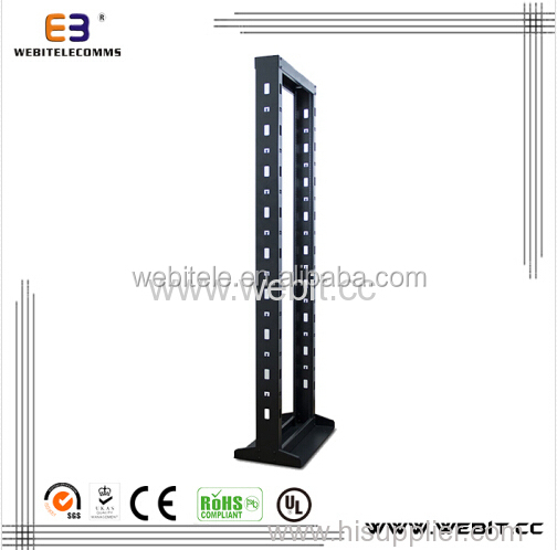 used for network telecommunication equipments floor standing Open rack with 2 posts