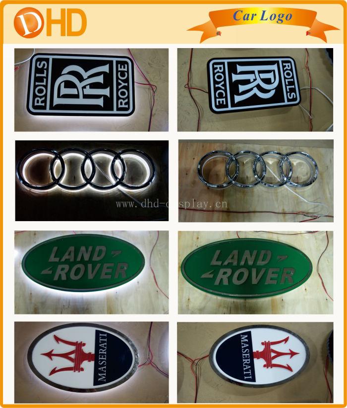Vacuum Coating Car Logo Backlit Car Logo With Names Buy Backlit - Car sign with names