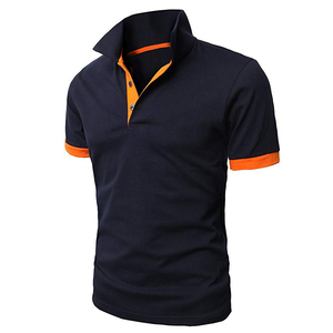 2019 china custom new design color combination 100% cotton blank men polo t shirt