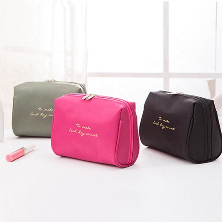 2019 water proof plain custom cosmetica make-up tas