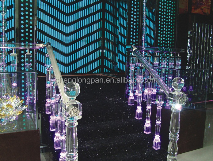 Crystal stair railing