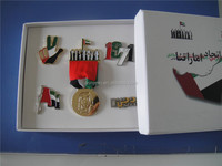 Dubai Magnetic Badge With Paper Gift Box For UAE National Day Gifts