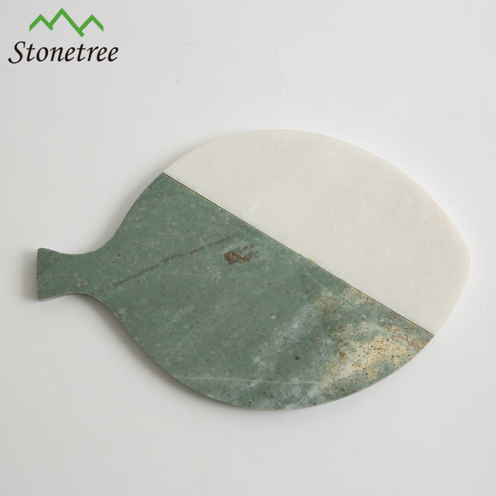 Fish Shaped Marble Stone Cheese Serving Board