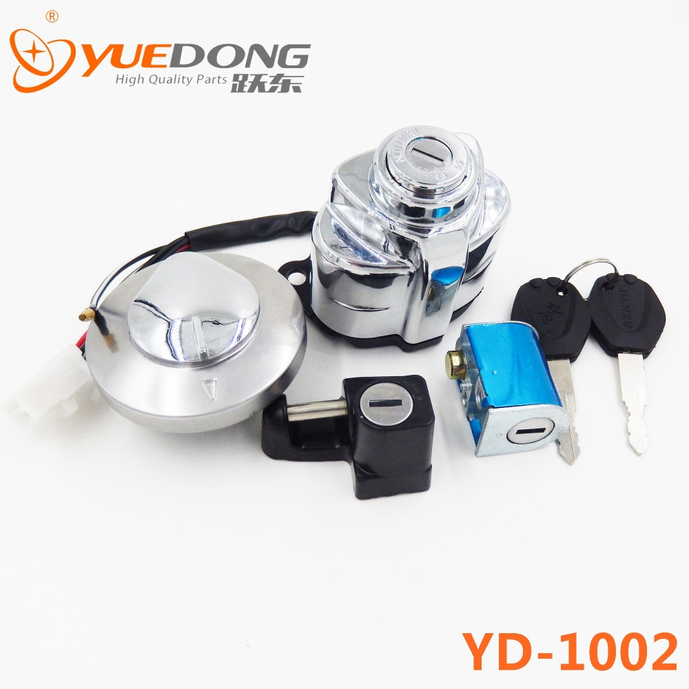 Yuedong высокое качество зажигания газовой шапки руль защелкой комплект ключей мотоцикл для Honda тень VT