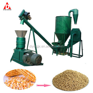 durable crusher and pellet mill all-in-one machine/hammer mill with pellet mill