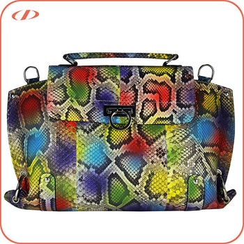 Genuine python skin ladies' designer handbags