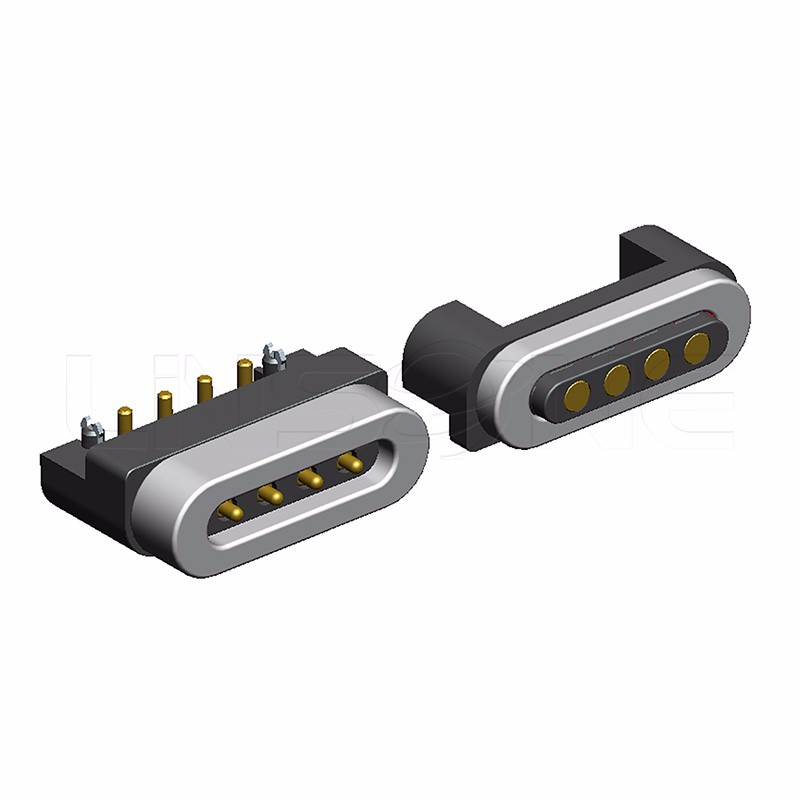 Poka Yoke Design Magnetic 4 Pin Cable Pogo Pin Charging ...