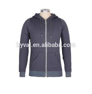 4a602be3 OEM custom men's hoodies with kangaroo pocket high quality fleece hoodies  with zipper wholesale in china