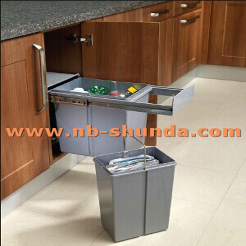 Automatic sensor kitchen bin dustbin in plastic kitchen for Automatic kitchen cabinets