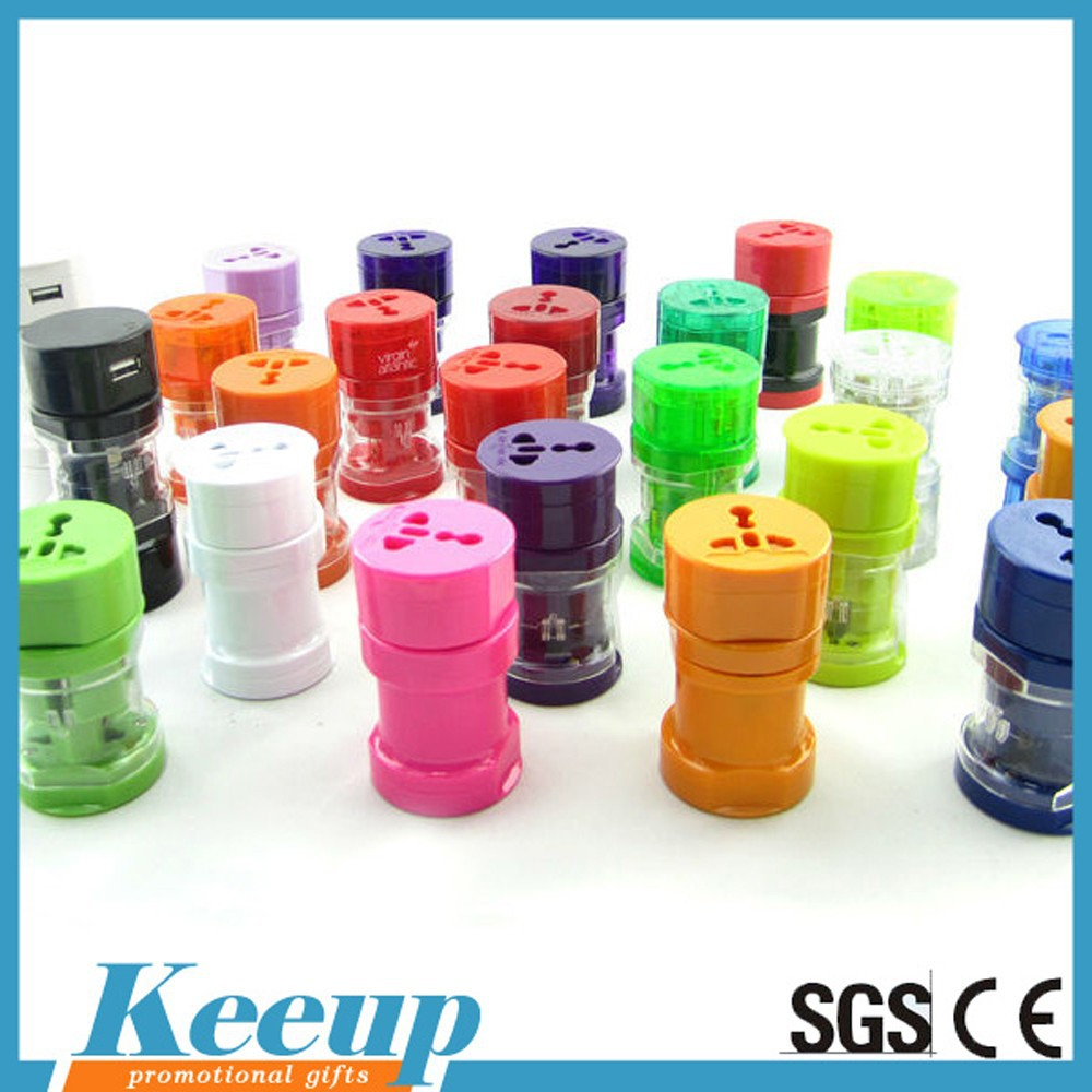 Promotional gifts Custom travel plugs Advertising World travel adaptor