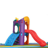 Top fashion attractive design amusement park playground equipment children plastic indoor play toy slide