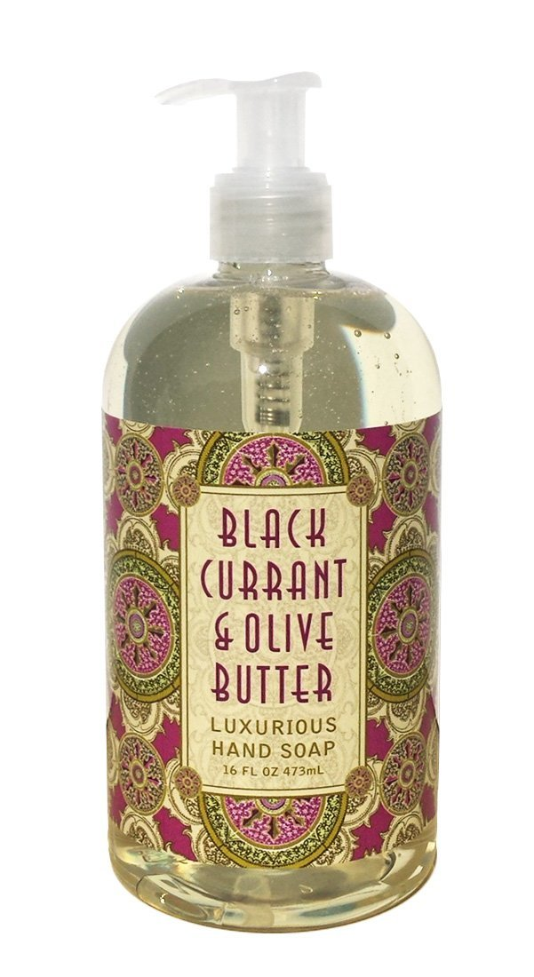 Greenwich Bay Black Currant & Olive Butter Hand Soap Enriched with Shea Butter, Cocoa Butter and Black Currant Butter 16 oz