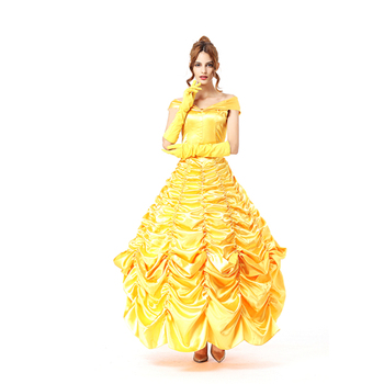 4fda3d4ea6c Yellow Adult Beauty Princess Fancy Dress Costume,Princess Dance Costume -  Buy Adult Princess Costume,Princess Dance Costume,Princess Fancy Dress ...