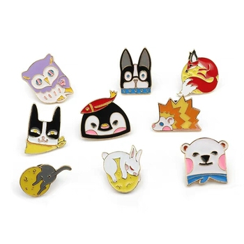 custom pin animal bt21 funny soft enamel lapel pins for promotional gifts for clothing decoration bts rose gold
