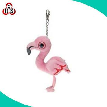 flamingo pássaro personalizado chaveiro de pelúcia chaveiro de