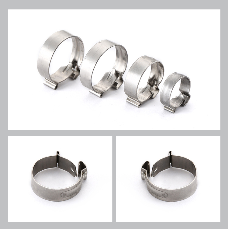 Strong fastening force Low temperature resistance 304 stainless steel hose clamp