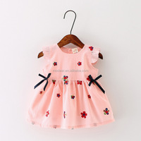 Baby Girls Sleeveless Embroidery Flower Printed Princess Dresses Summer Skirts baby dress
