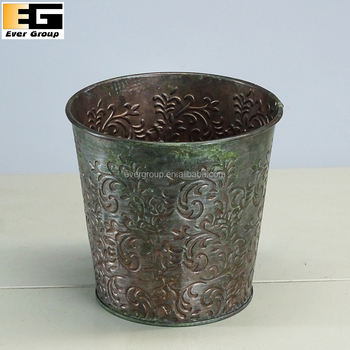 Custom Designs Metal Garden Galvanized Zinc Flower Vases Wholesale