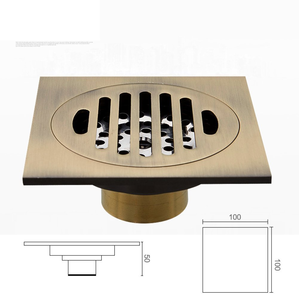 YAOHAOHAO European antique carved floor drain/all of copper floor drain smell retro-A
