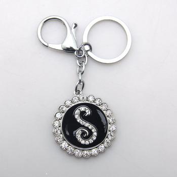 jojo luxury diamond keychain letter s alphabet rhinestone keychain buy diamond keychaindiamond alphabet letters keychainkeychain letters product on