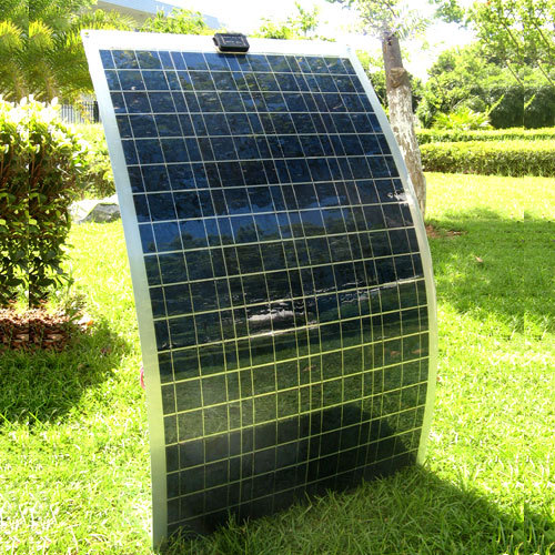 Cheap factory outlet semi flexible 100W monocrystalline solar panel best price in China
