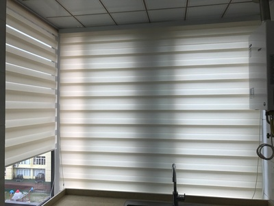 Remote Control Zebra Blinds With 38MM Aluminum Tube