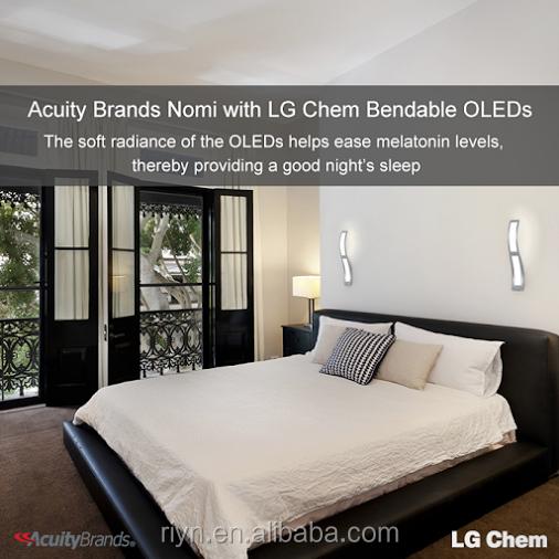Indoor Light Lg's No Uv No Glare Oled Flexible Panel Light