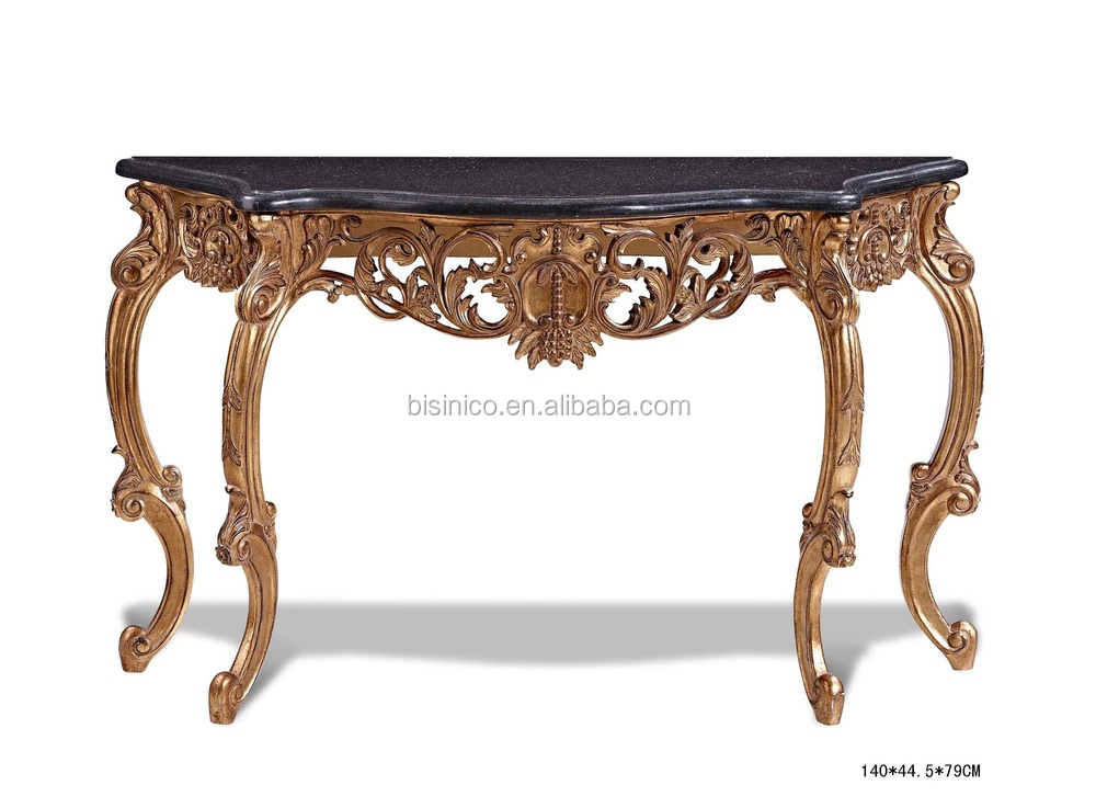 Bisini Half Round Console Table Antique Luxury Console