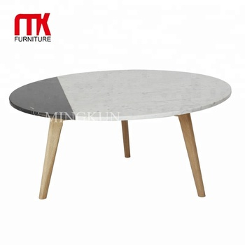 2 Colors Marble Top Coffee Table