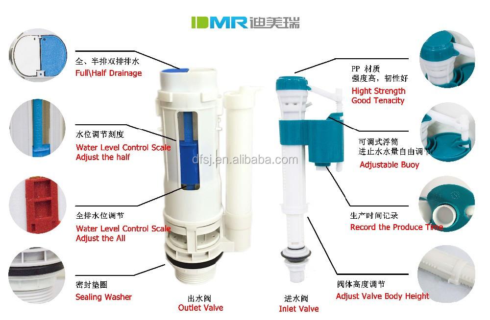 Water Saving Bathroom Toilet Flush Tank Parts Cistern Dual