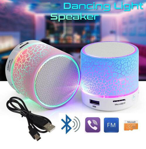 Cheapest Speaker Wireless Portable Mini LED Small Music Audio TF USB FM Stereo Sound Speaker For cellphone with Mic