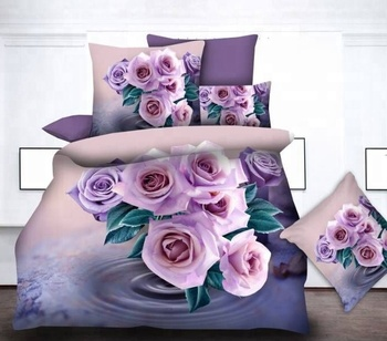 100% polyester Microfiber Wholesale 3D Bedding Set 80GSM- 110 GSM 4-6 Pieces printed bed sheet set