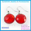2015 fashion round earring designs costume crystal earring