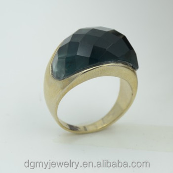 Hot Sale Gold Ring Designs For Boys Gold Ring With Black Stone
