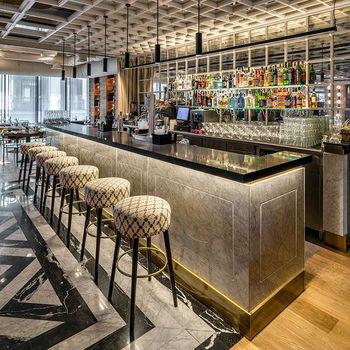 High Gloss Modern Design Long Commercial Pub Cafe Wine Bar