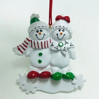 Luxury Personalized Resin Snowman Family Christmas Tree Ornament