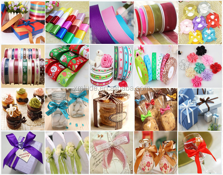 Logo printed silk screen ink printing satin christmas celebrate it ribbon