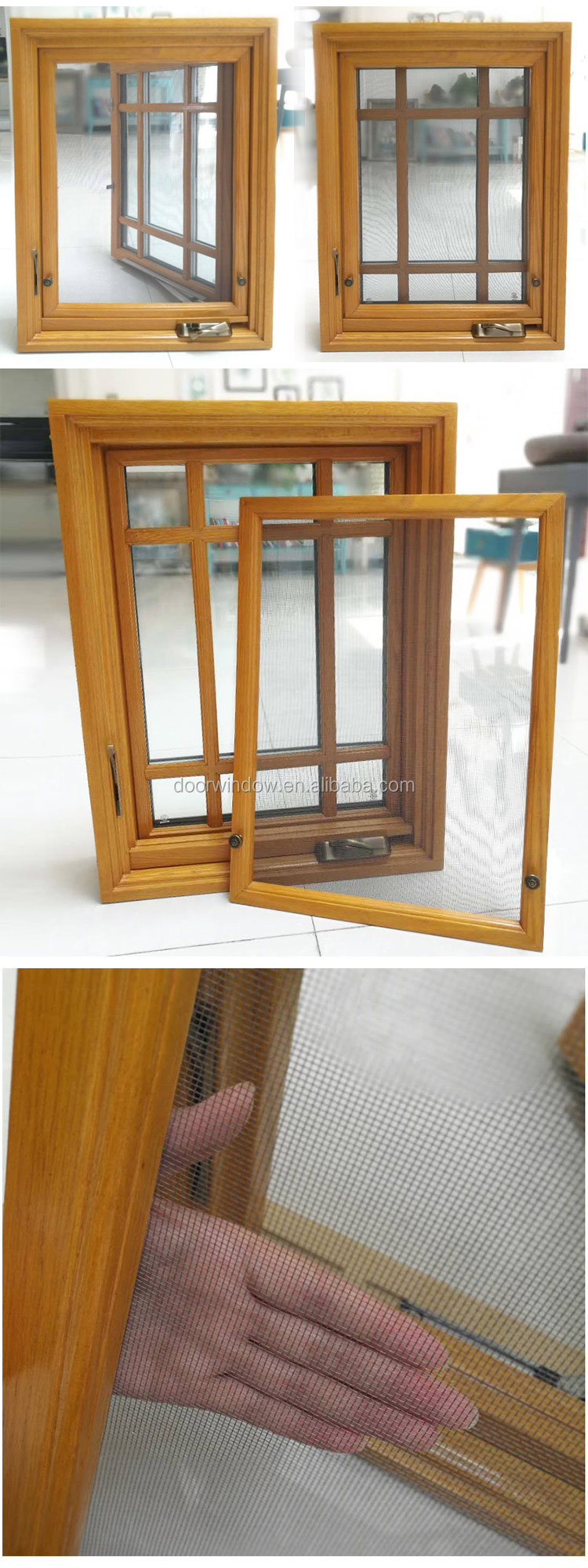 Arch top Sound proof grills design hinged left/right crank open outwards casement Windows