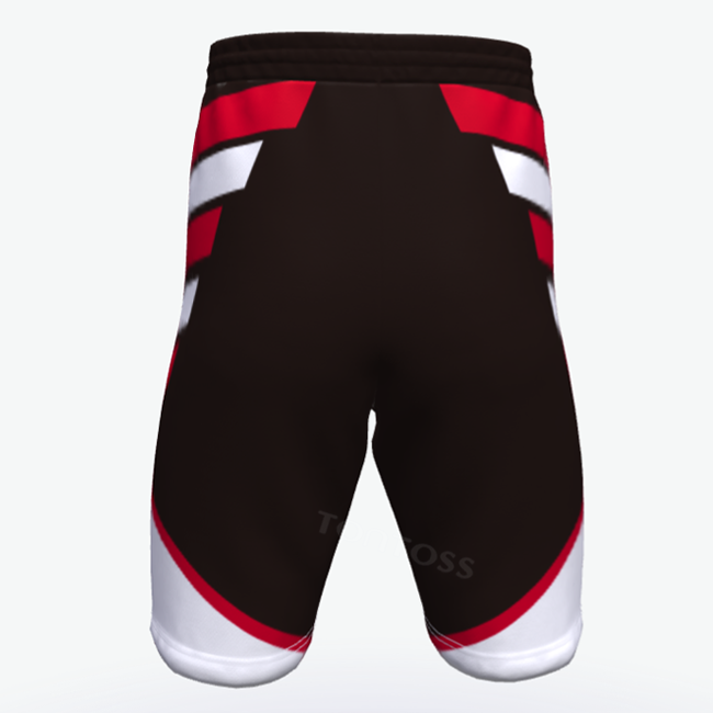 Best custom fully dye custom no logo design tropical youth basketball shorts black and red vest