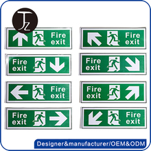 Factory customized acrylic fire exit sign, photolumineascent exit sign