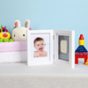 Baby Gift Picture Frame DIY Handprint Footprint Wooden Photo Frame for Home Baby Bedroom Decoration