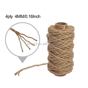 100 natural raw jute yarn 4 mm jute twine