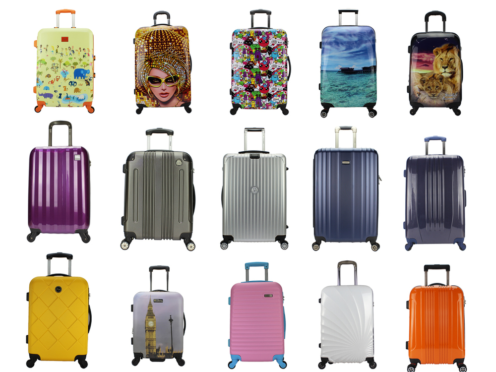 Classic Stripe Colorful Abs Eminent Luggage Travel Bag For Sale ...