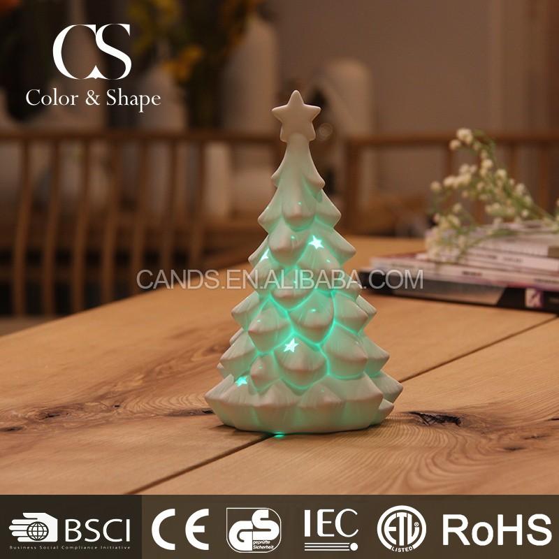 Color Led Night Lamp Ceramic Christmas Tree Night Light For Home Decoration Buy Christmas Night Light Color Night Light Night Lamp Product On