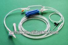 high quality disposable infusion set with y site injection port