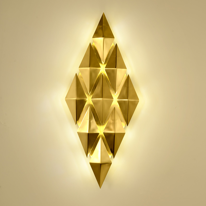 Роскошный современный светильник для отеля, сплав, золото, арт-деко, светодиодный настенный светильник для помещений